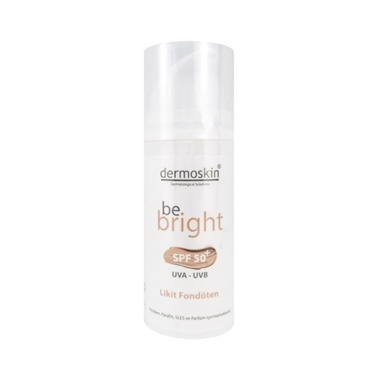 Dermoskin  Be Bright SPF50+ Likit Fondöten Light 33ml Renksiz